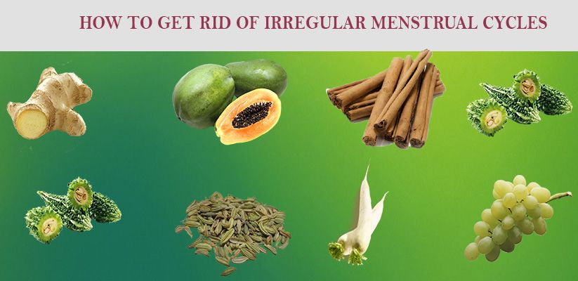 How to get rid of irregular menstrual cycles